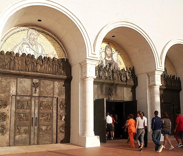 Portals of Faith, bronze and mosaic.
