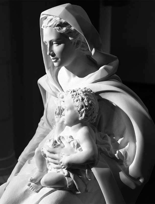 Mother and Child by Jill Burkee, marble.